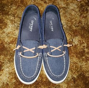 Navy Blue Sperry shoes size 9